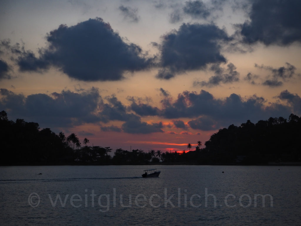 Thailand Koh Chang Bang Bao Pier Golf von Thailand Sonnenuntergang