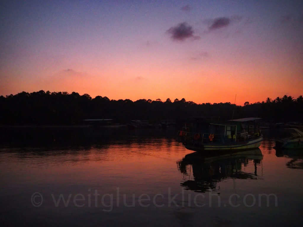 Thailand Koh Chang Bang Bao Bucht bay Sonnenuntergang sunset