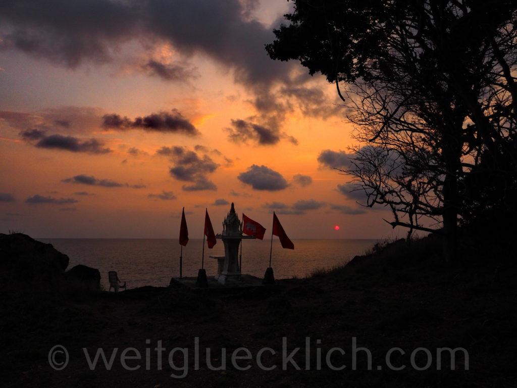 Thailand Koh Chang Bang Bao Cliff Cottage view point Sonnenuntergang