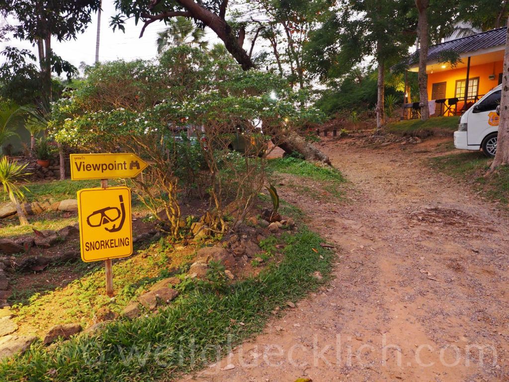 Thailand Koh Chang Cliff cottage Bucht bay snorkeling