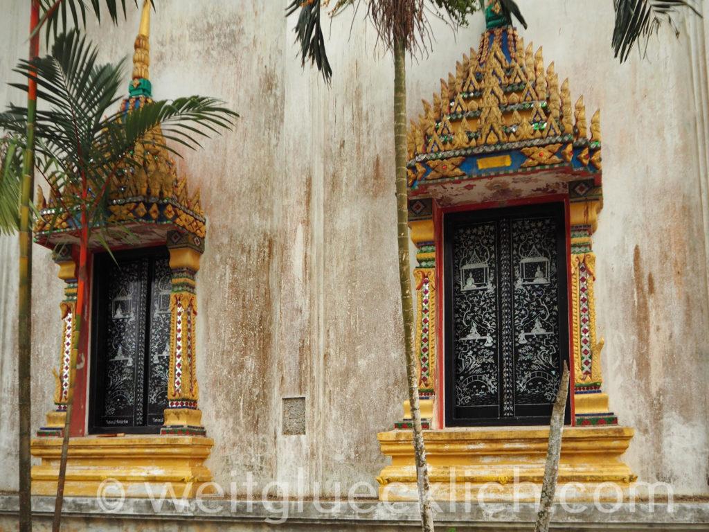 Thailand Koh Chang Wat Khlong Phrao Tempel Fenster