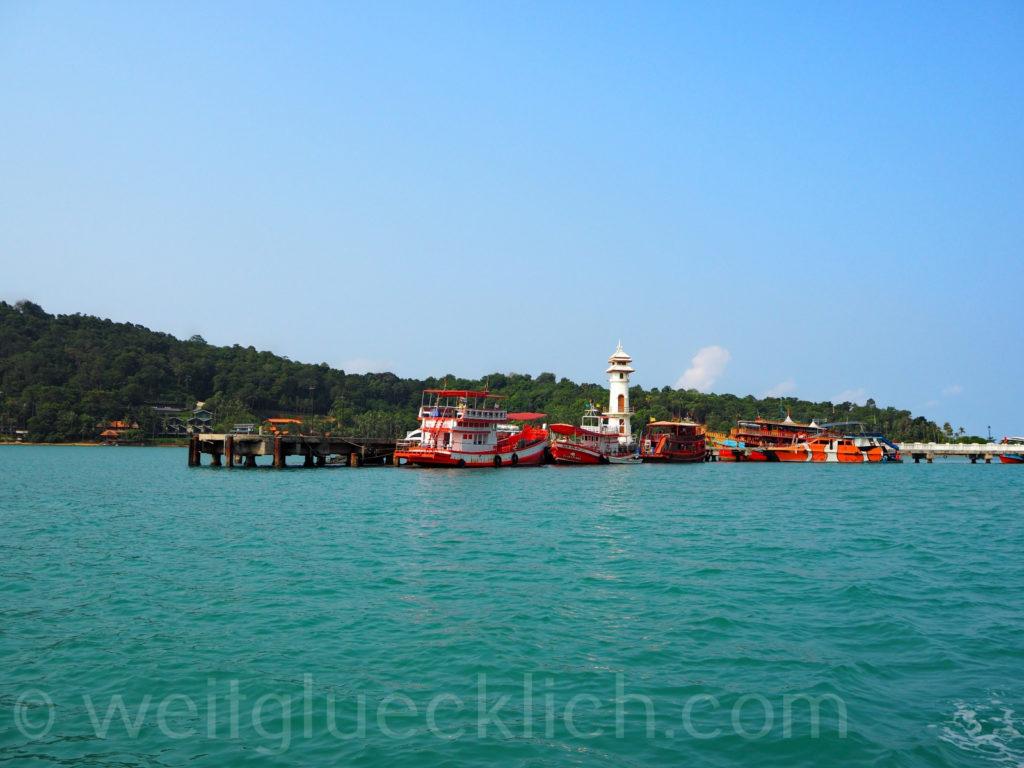 Thailand Koh Chang Bangbao Pier Golf von Thailand Leuchtturm