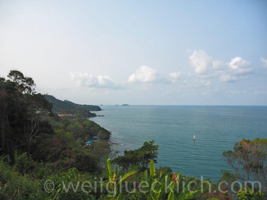 Thailand Koh Chang Admiral Krom Luang Jumborn Khet Udomsaki - Schrein shrine Aussicht viewpoint