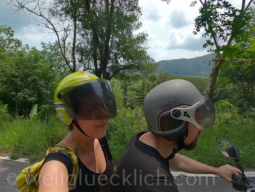 Weltreise Thailand Koh Chang Salak Phet Rollerfahrt scooter