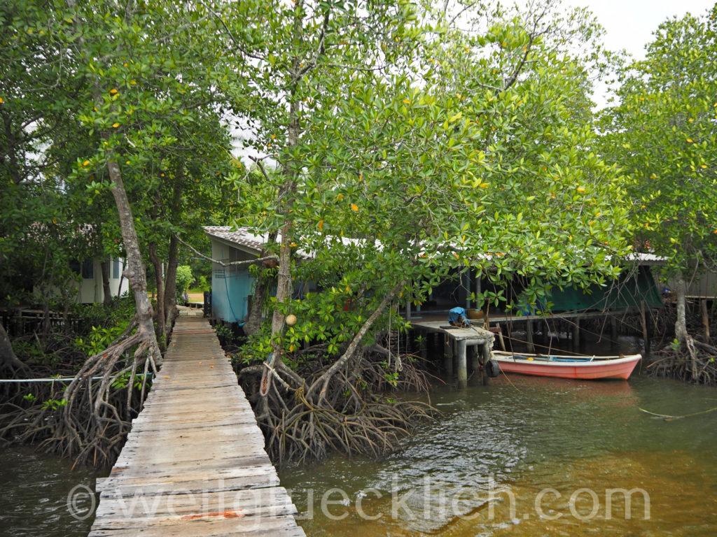 Weltreise Thailand Koh Chang Salak Phet Fischerdorf fisherman village