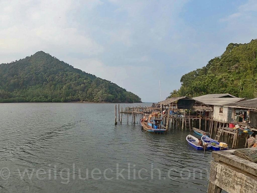 Weltreise Thailand Koh Chang Salak Khok Fischerdorf fisherman village Bucht bay