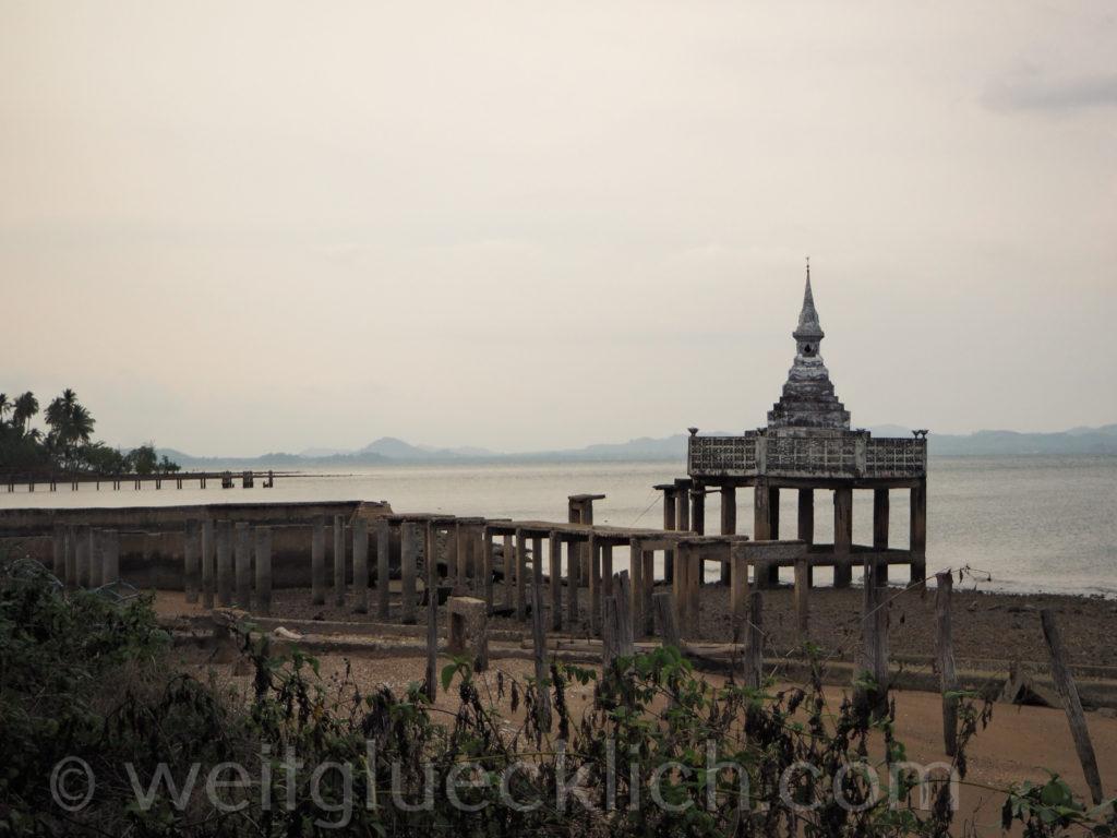 Weltreise Thailand Koh Chang Dan Mai Pier Stupa