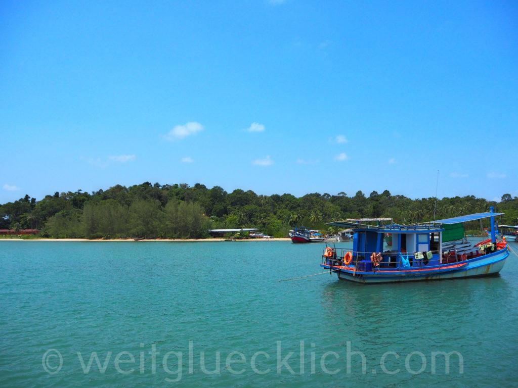 Weltreise Thailand Koh Chang Bang Bao Bucht bay
