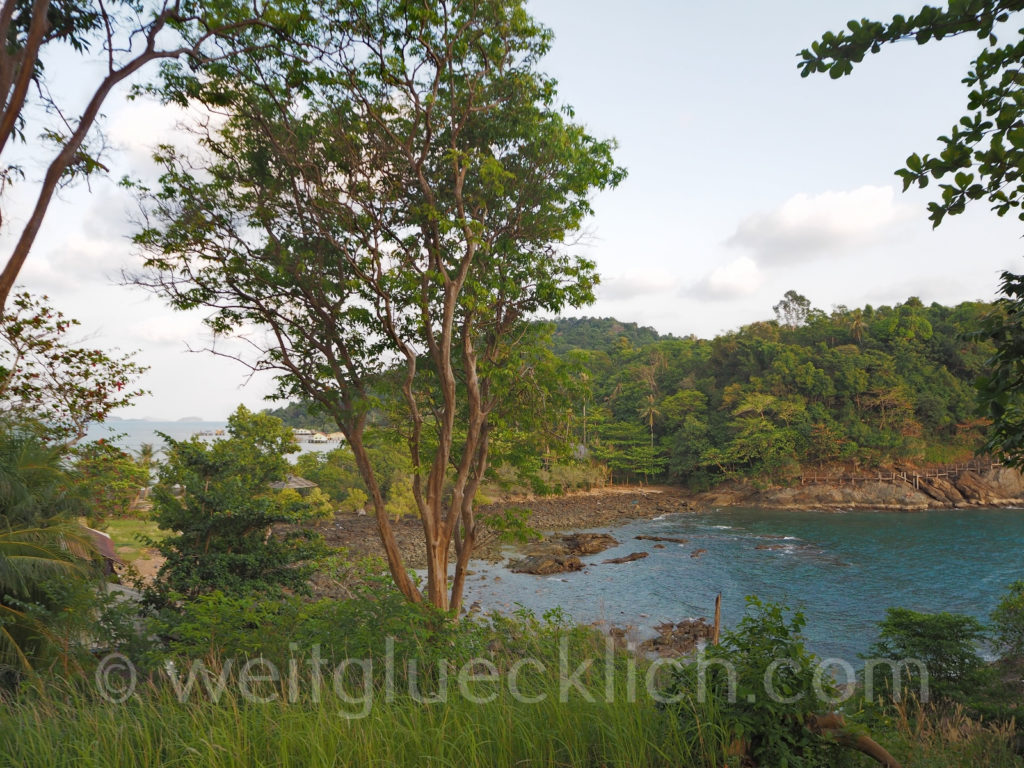 Weltreise Thailand Koh Chang Bang Bao Cliff Cottage Bucht bay view point