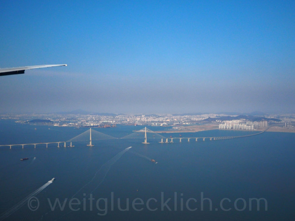 Weltreise 2020 Suedkorea Anflug Incheon airport Seoul