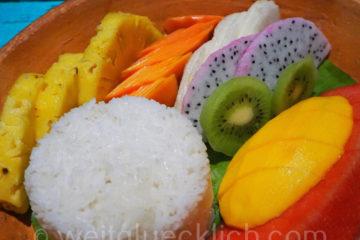 Weltreise 2020 Thailand Koh Chang frisches Obst Mango Drachenfrucht