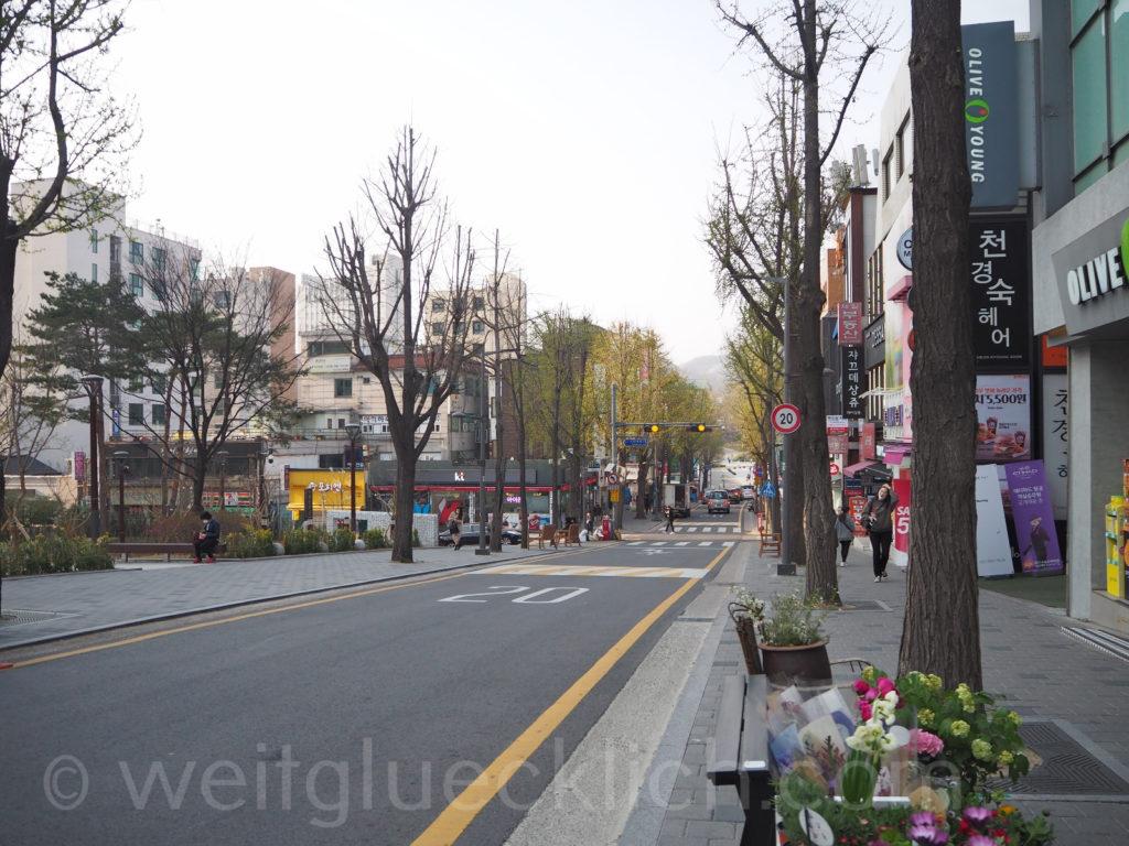 Weltreise 2020 Suedkorea Seoul Ewha Woman's University shopping