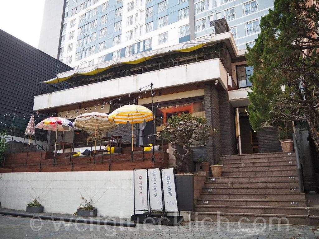 Weltreise 2020 Suedkorea Seoul Hongdae Hapjeong bar restaurant