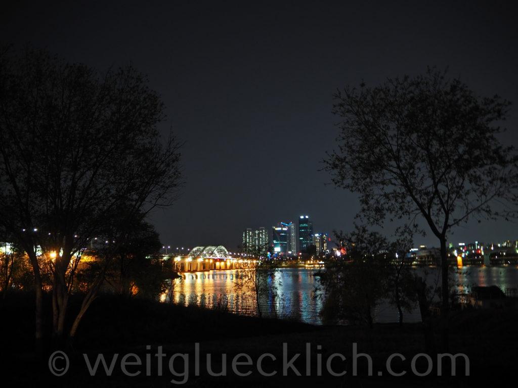 Weltreise 2020 Suedkorea Seoul Hangang Park Yanghwa bridge