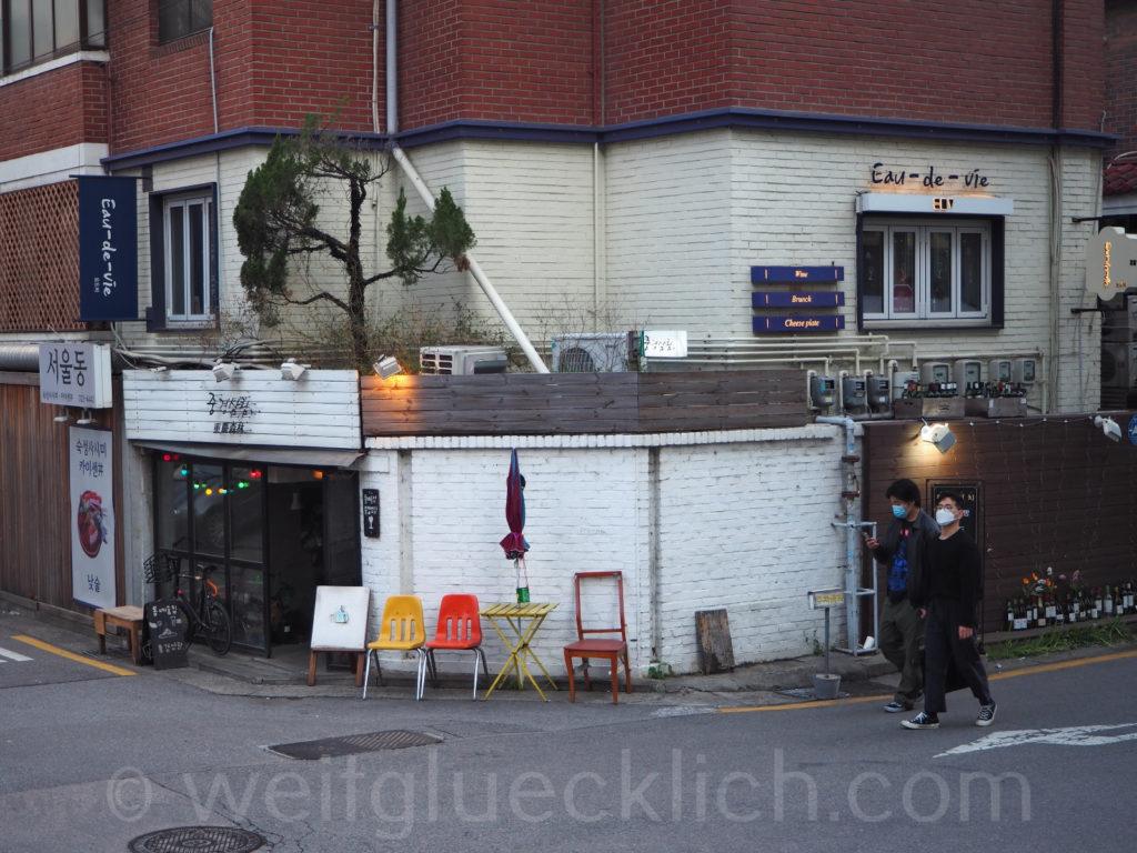 Weltreise 2020 Suedkorea Seoul Hongdae Hapjeong Frankreich Hype french cafe