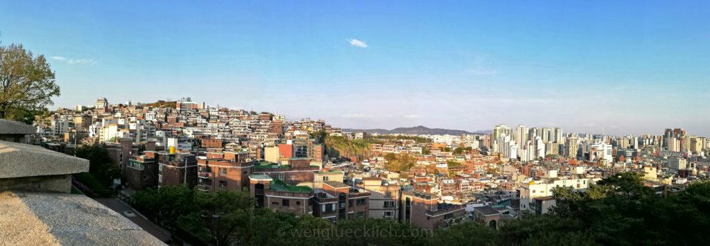 Weltreise 2020 Suedkorea Seoul Dongdaemun Naksan Mountain Aussicht