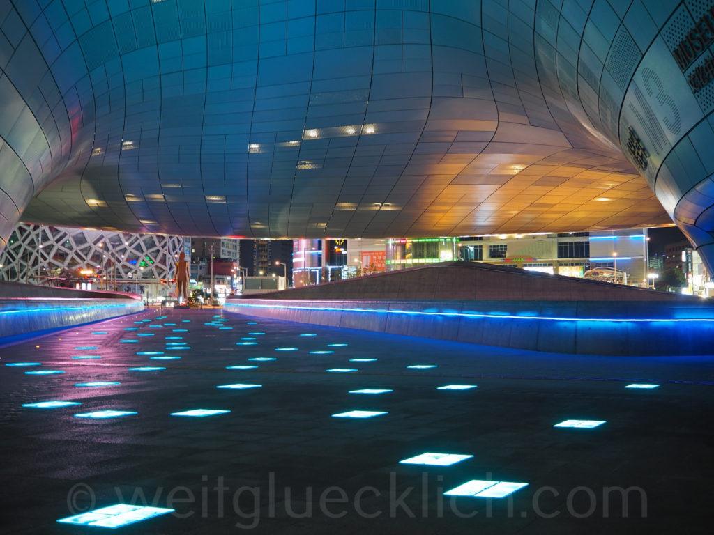 Weltreise 2020 Suedkorea Seoul Dongdaemun Design Plaza Zaza Hadid
