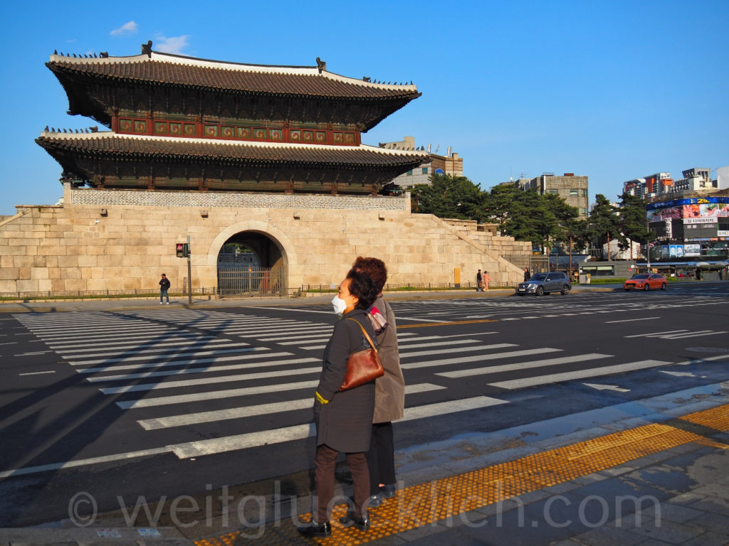 Weltreise 2020 Suedkorea Seoul Dongdaemun Heunginjimun Gate