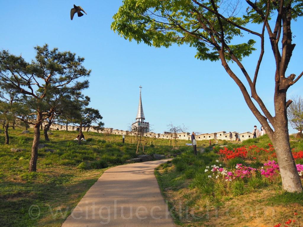 Weltreise 2020 Suedkorea Seoul Dongdaemun Seonggwak Park Stadtmauer