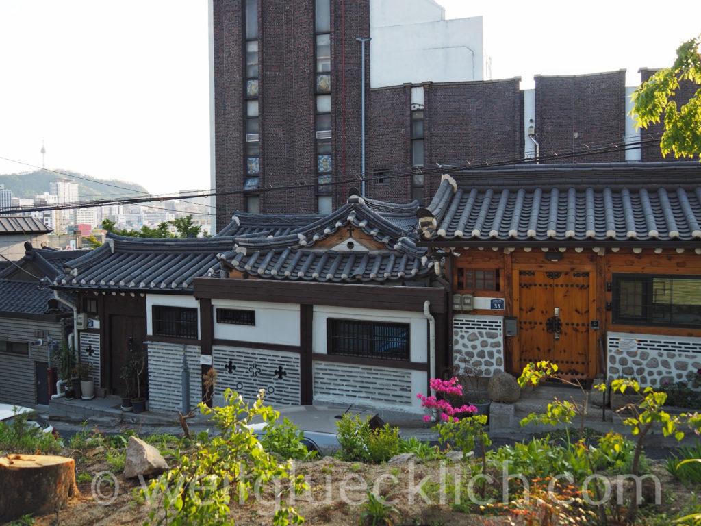 Weltreise 2020 Suedkorea Seoul Dongdaemun Ihwa-dong Hanok Wohnhaeuser
