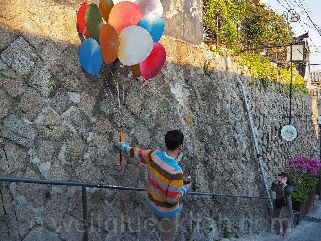 Weltreise 2020 Suedkorea Seoul Naksan Mountain Ihwa-dong street art foto shooting