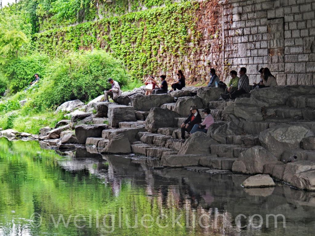 Weltreise 2020 Suedkorea Seoul Cheonggyecheon stream