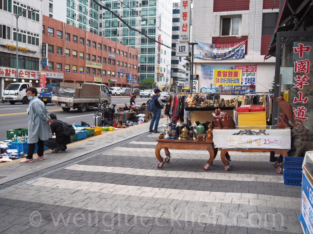 Weltreise 2020 Suedkorea Seoul Sinseol-dong Seoul Folk Flea Market