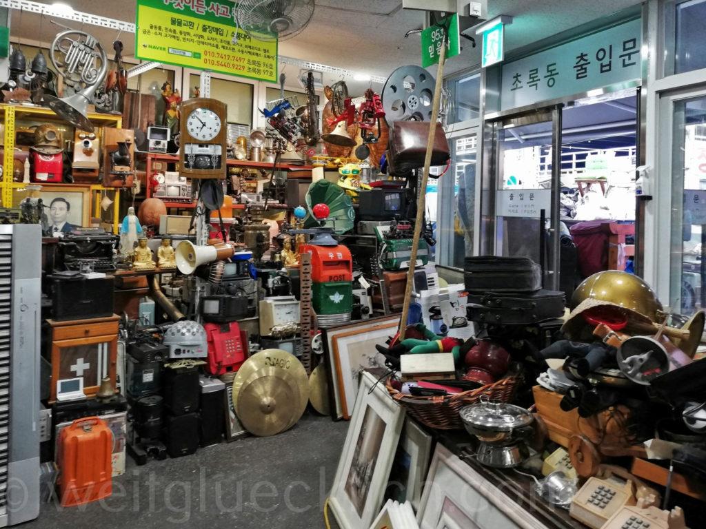 Weltreise 2020 Suedkorea Seoul Sinseol-dong Seoul Folk Flea Market   Vintage Flohmarkt