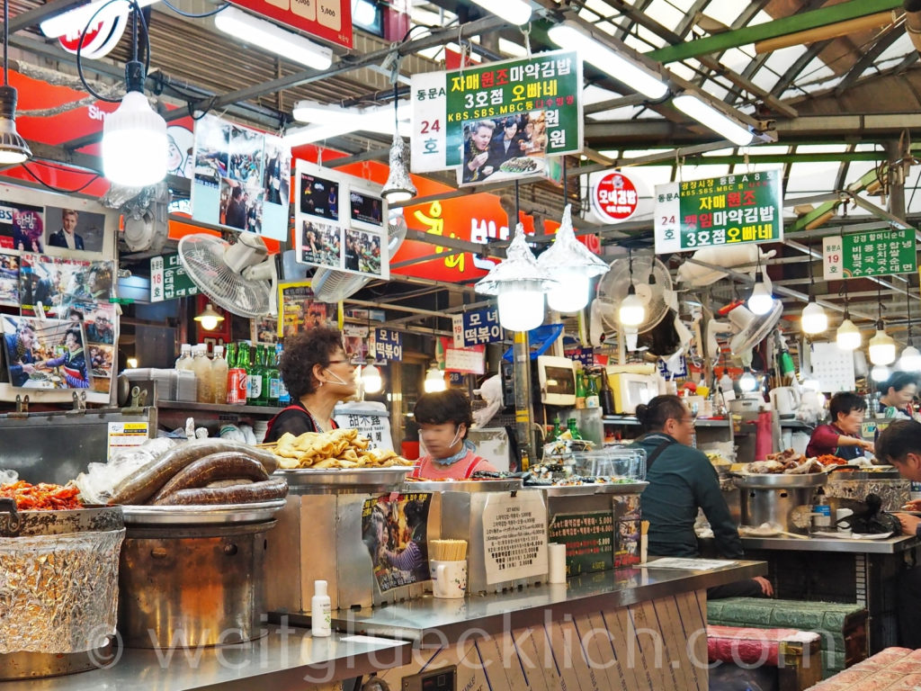 Weltreise 2020 Suedkorea Seoul Gwangjang Market Street food