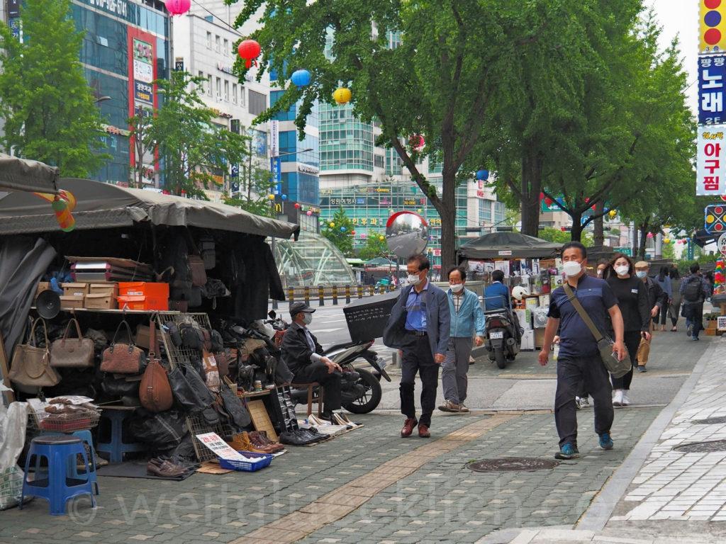 Weltreise 2020 Suedkorea Seoul Dongdaemun-gu Strassenhaendler