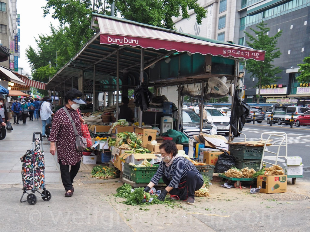 Weltreise 2020 Suedkorea Seoul Yangjegeongang Medizinmarkt Gyeongdong Market Kräuter