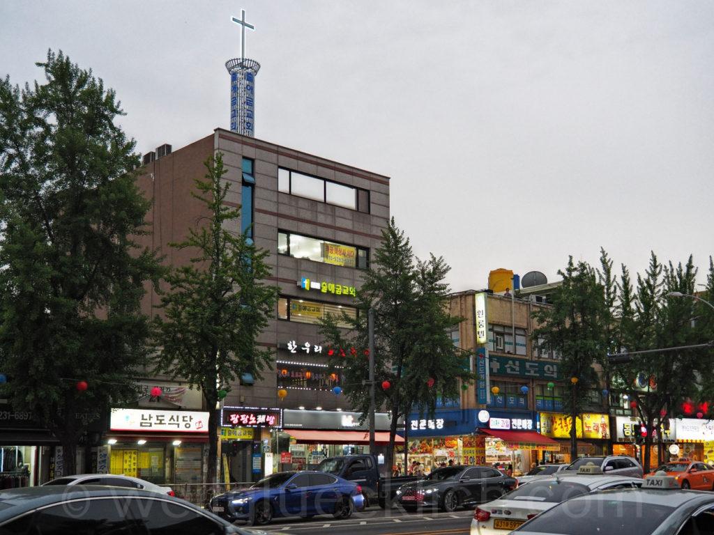 Weltreise 2020 Suedkorea Seoul Dongdaemun-gu christliche Kirche