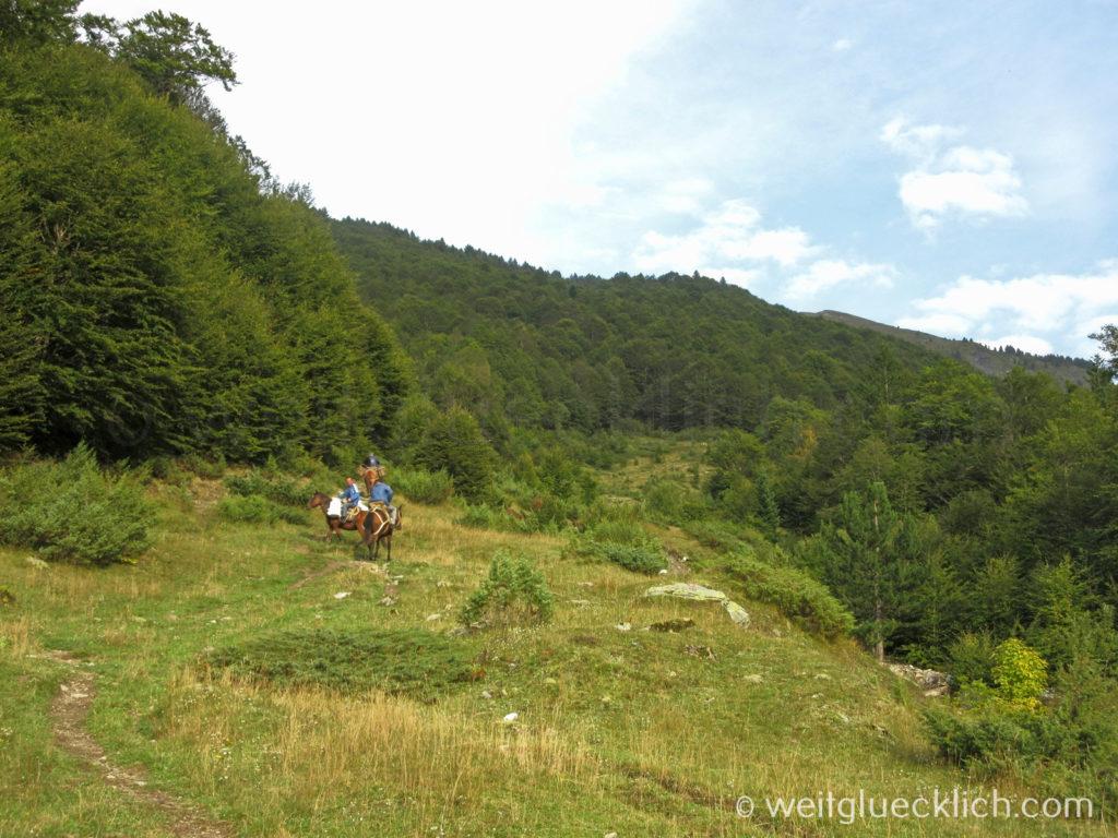 Peaks of the balkans Montenegro Besuch auf Pferden