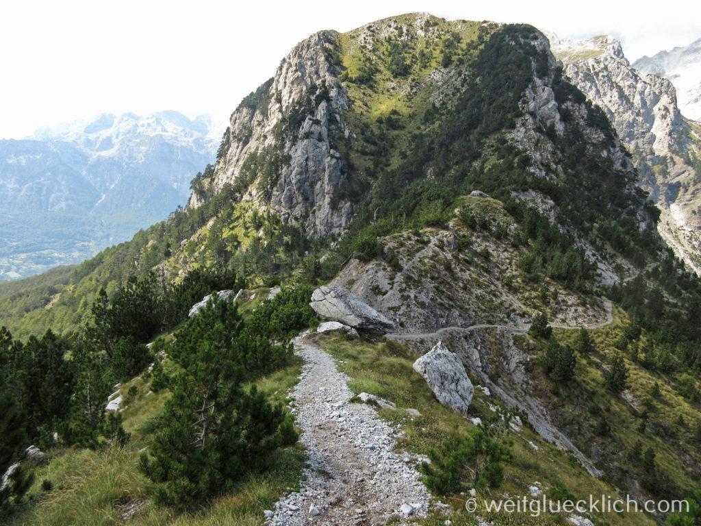 Peaks of the Balkans Albanien Gipfel neben Valbona Pass
