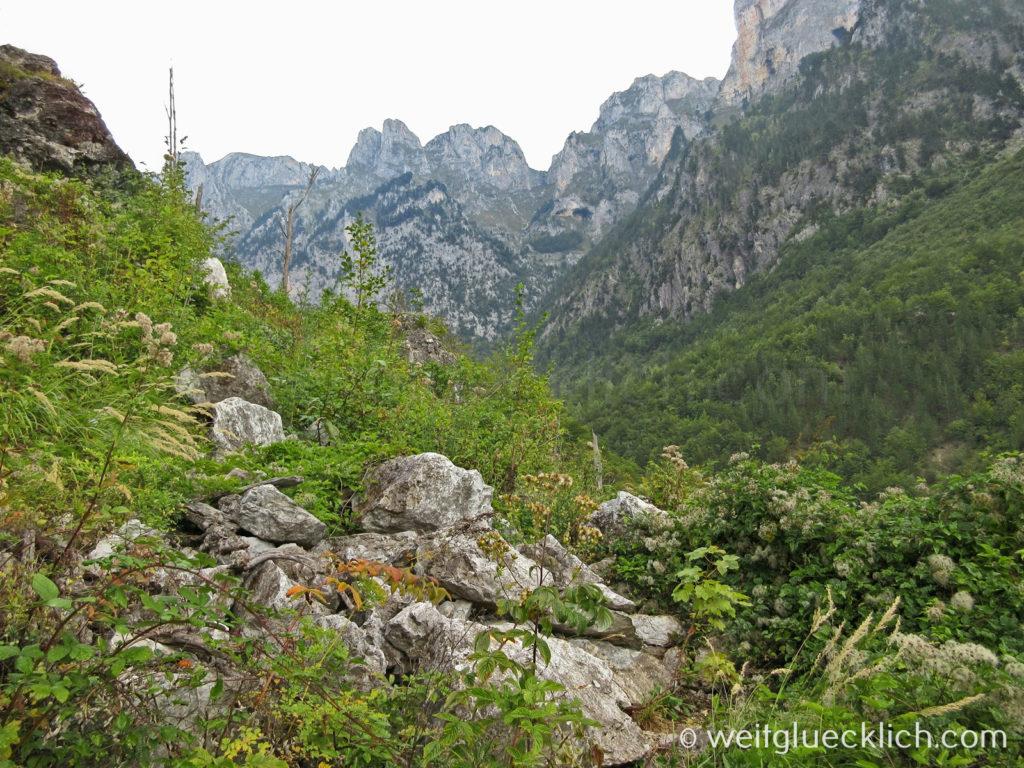 Peaks of the Balkans Albanien Maultierpfad Cerem Schlucht