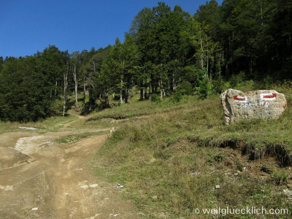 Peaks of the Balkans Montenegro Albanien gruene Grenze
