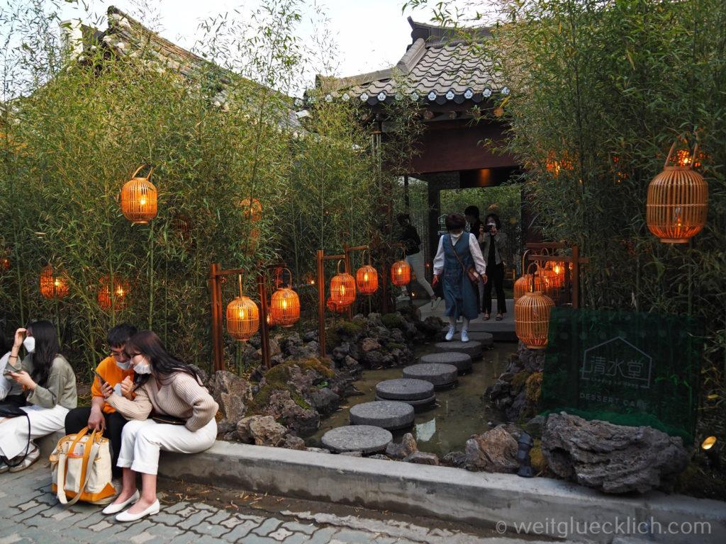 Weltreise 2020 Suedkorea Seoul Sightseeing Ikseon-dong Hanok Village dessert cafe