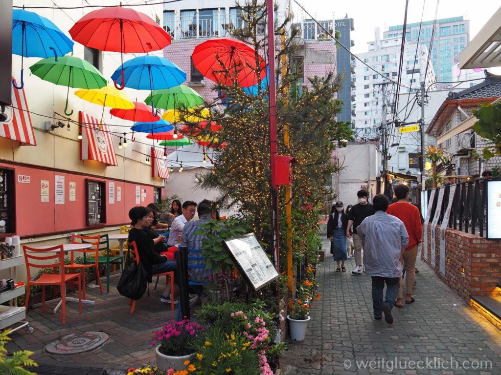 Weltreise 2020 Suedkorea Seoul Sightseeing Ikseon-dong Hanok Village Restaurant