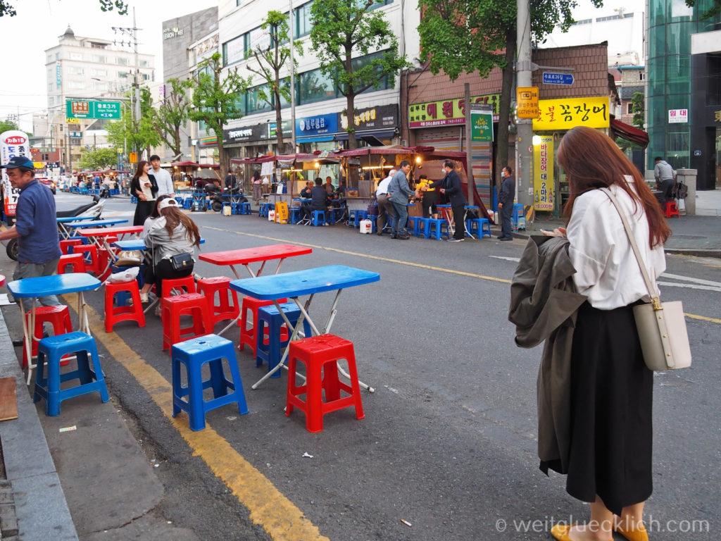 Weltreise 2020 Suedkorea Seoul Sightseeing Ikseon-dong Streetfood