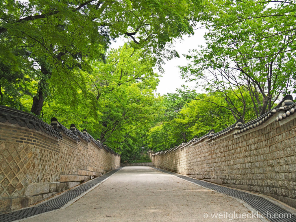 Weltreise 2020 Suedkorea Seoul Sightseeing Changdeokgung Palast Eingang secret garden