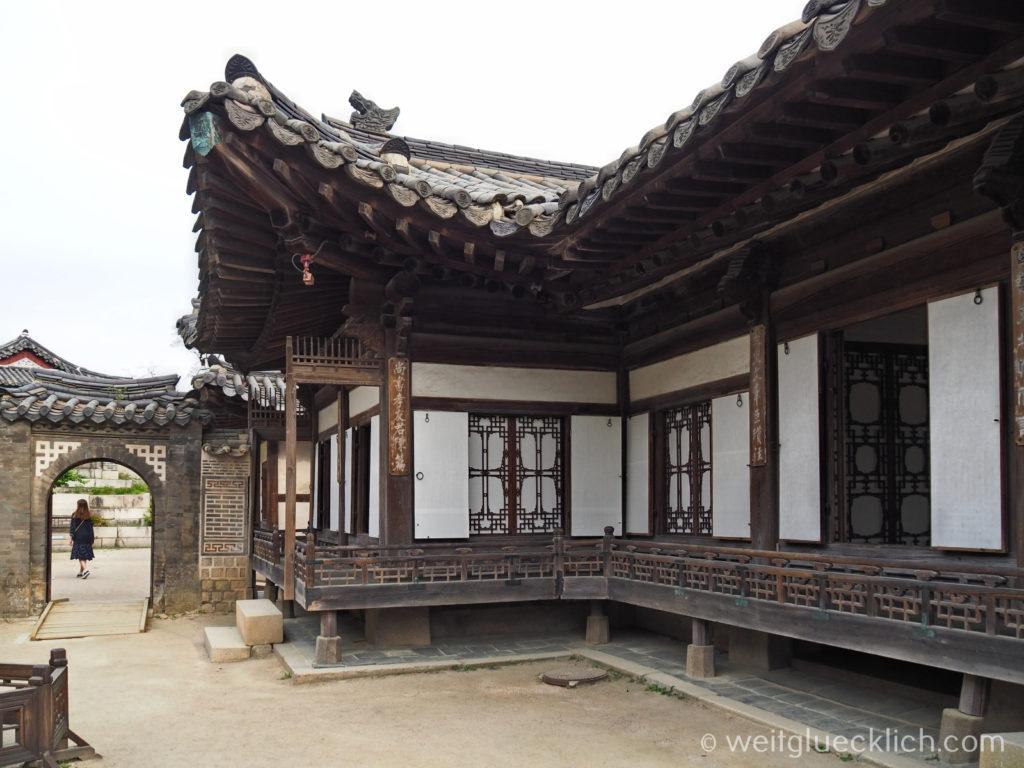 Weltreise 2020 Suedkorea Seoul Sightseeing Changdeokgung Palast Nakseonjae koenigliche Residenz