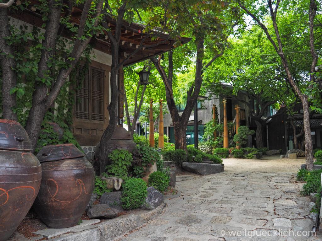 Weltreise 2020 Suedkorea Seoul Sightseeing Insa-dong Innenhof