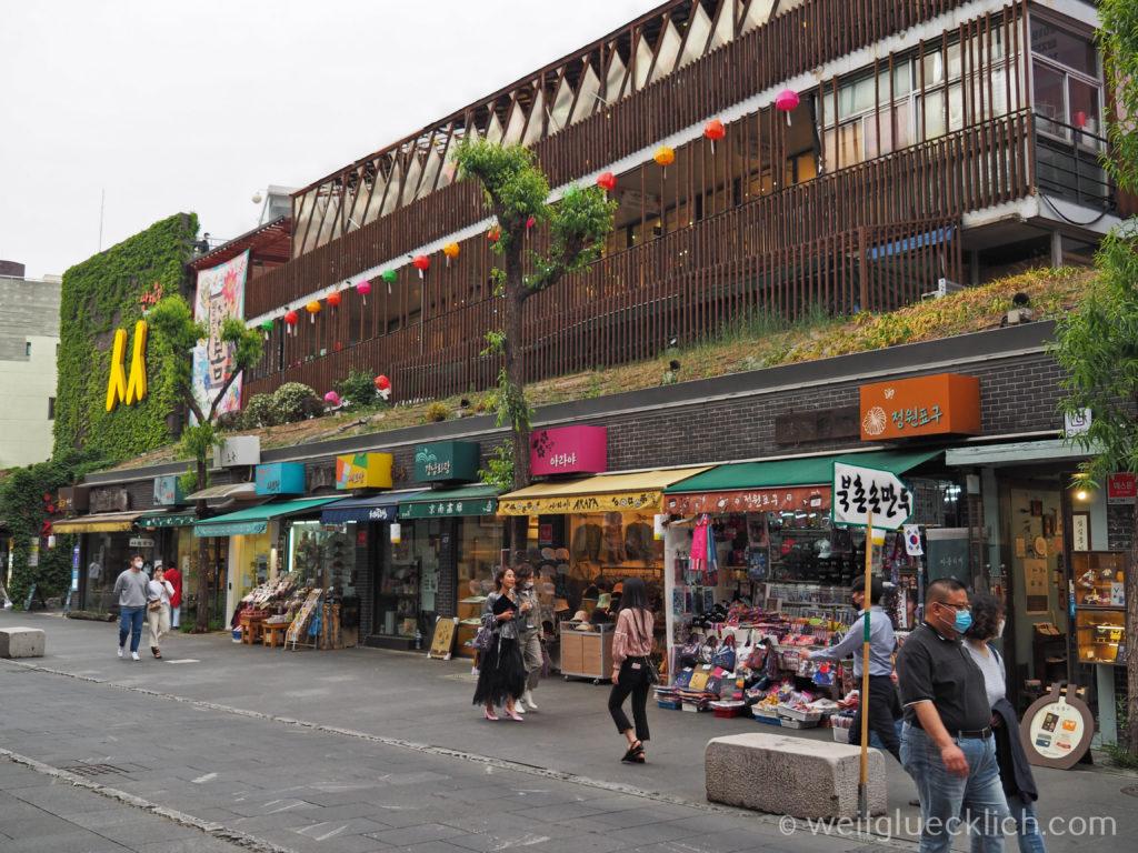 Weltreise 2020 Suedkorea Seoul Sightseeing Insa-dong Fussgaengerzone