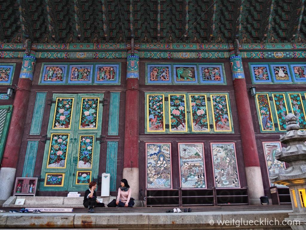 Weltreise 2020 Suedkorea Seoul Sightseeing Insa-dong Jogyesa Tempel