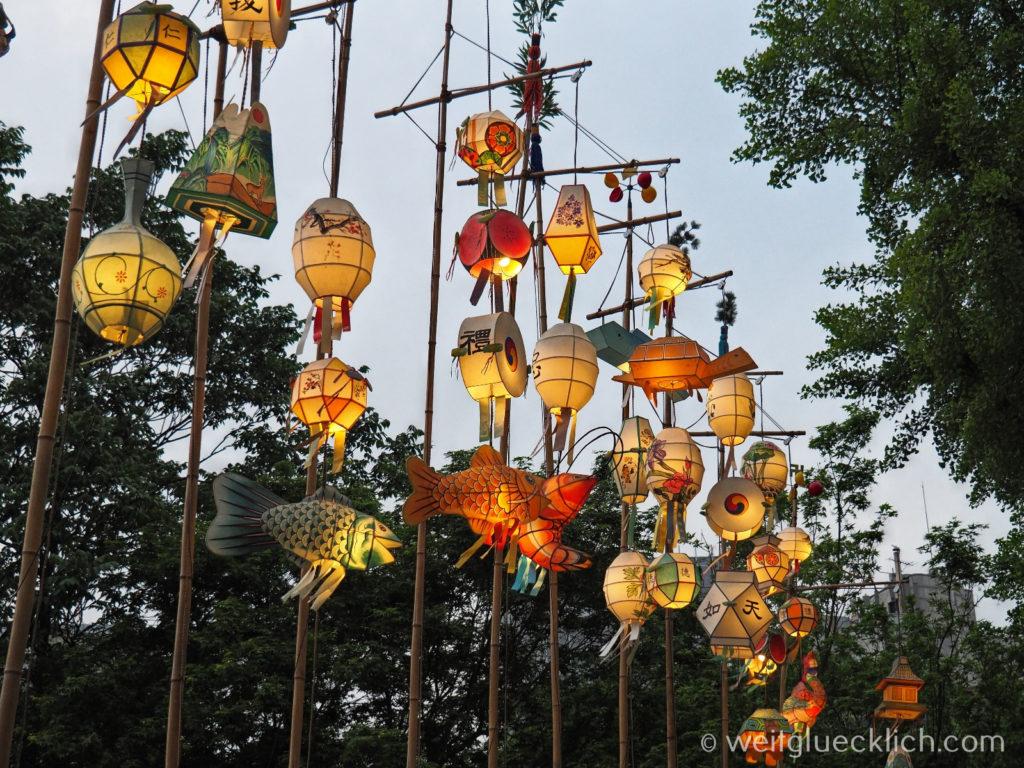 Weltreise 2020 Suedkorea Seoul Sightseeing Jogyesa Tempel Laternen Eingang