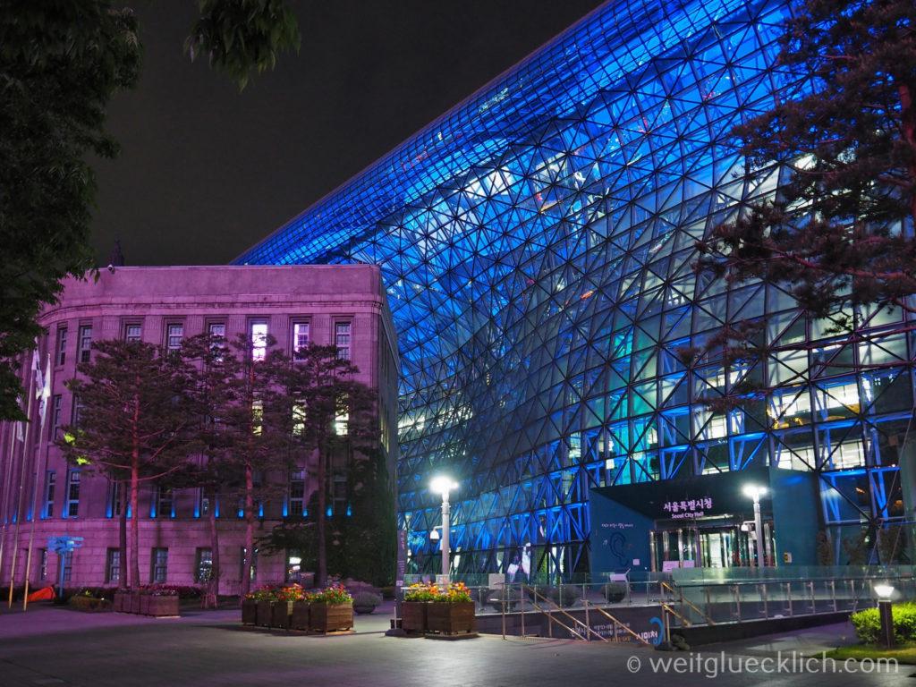 Weltreise 2020 Suedkorea Seoul Sightseeing Cheonggyecheon city hall Rathaus