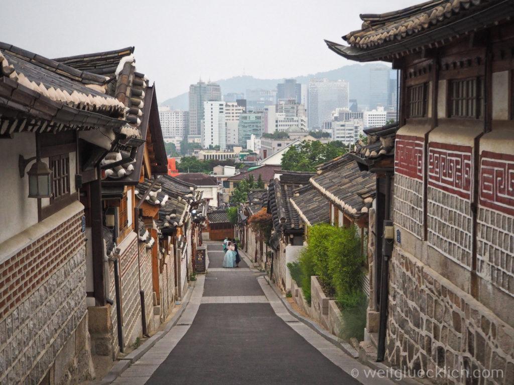 Weltreise 2020 Suedkorea Seoul Sightseeing Bukchon Hanok Village Bukchon-ro 11-gil Photo spot