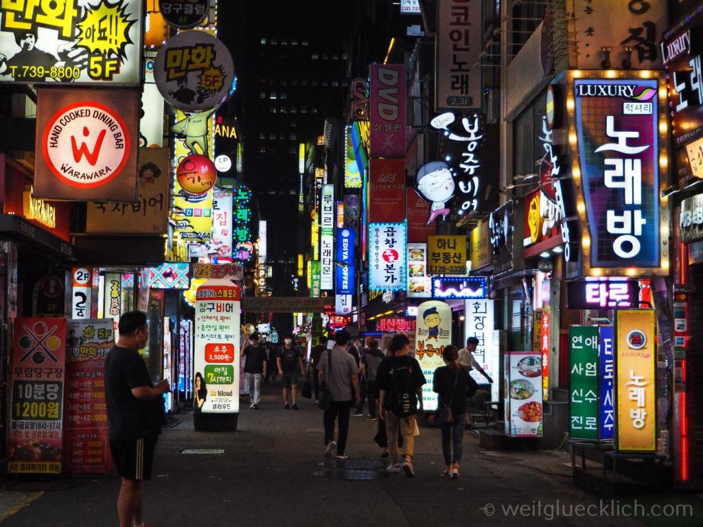Weltreise 2020 Suedkorea Seoul Gwancheol-dong Nightlife