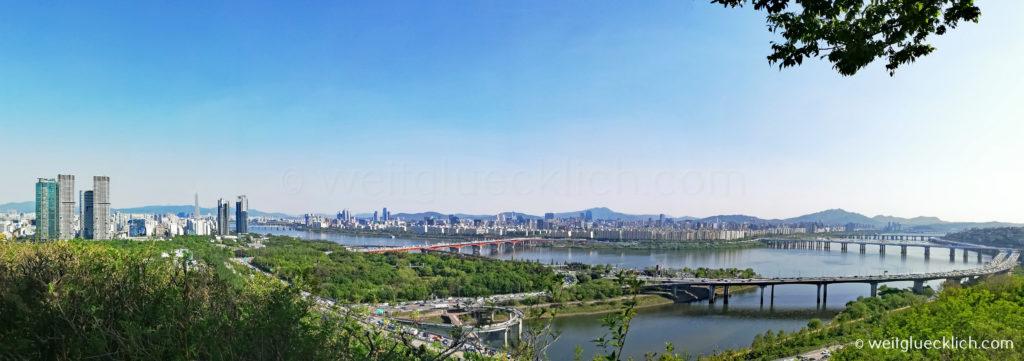 Weltreise 2020 Suedkorea Seoul Eungbongsan Berg Aussicht