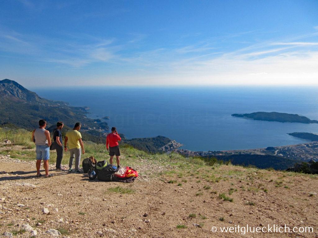 Montenegro Adria Budva Paragliding Klippe
